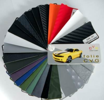 Folie CVG - wzornik kolorów