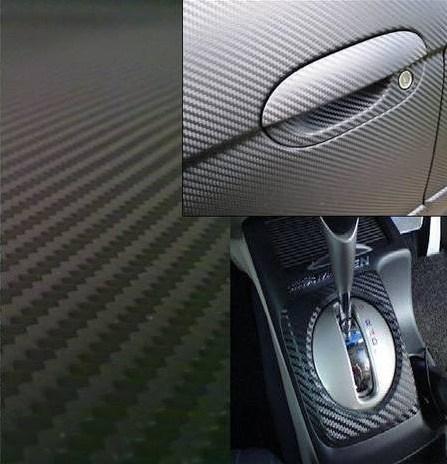 Folie CVG - Carbon 3D - przykładowe wykończenie elementów samochodu